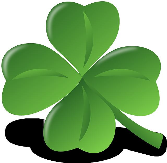 Kleeblatt grün